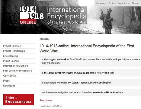 Une encyclopédie internationale 14-18 en ligne | Nos Racines | Scoop.it