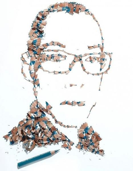 Artwork Pencil Shaving Portraits by Kyle Bean | Cool Photography | Scoop.it