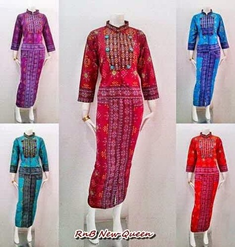 Model Baju Batik Wanita RnB New Queen Series - Batik Bagoes | Model Baju Batik Wanita Seri Queen Motif Kain Songket | Scoop.it