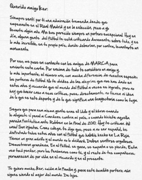 España: Carta de Chilavert a Iker - MARCA.com   mix   Scoop.it