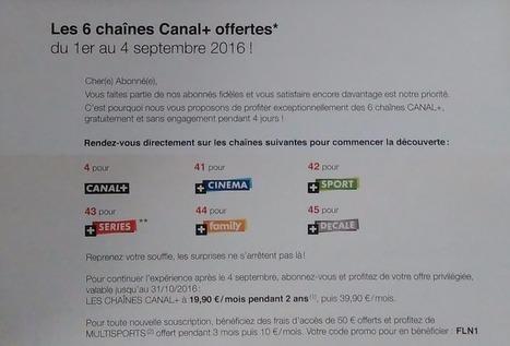 Les chaînes Canal + offertes chez Free pour la rentrée | Freewares | Scoop.it