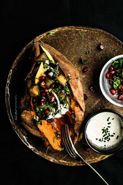 Batata asada rellena de berenjena y mango - Bake-Street.com | Passion for Cooking | Scoop.it