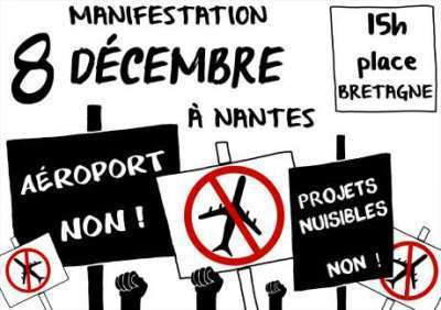 #NDDL : Nombreuses manifestations contre l'aéroport le 8décembre !! | jocegaly | Scoop.it