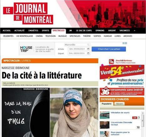 L'article de l'AFP sur Nargesse BIBIMOUNE (Dans la peau d'un Thug) repris par un média canadien ! | Actualités et publications de IS Edition | Scoop.it