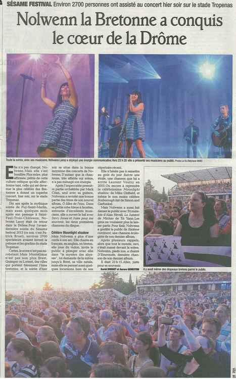 Sésame Festival ! Article paru dans le Dauphiné du 4 juillet | Montélimar Agglo Festival 2014 | Scoop.it