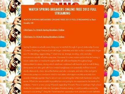 WATCH SPRING BREAKERS ONLINE FREE 2013 FULL STREAMING | Watch GI joe retaliation online | Scoop.it