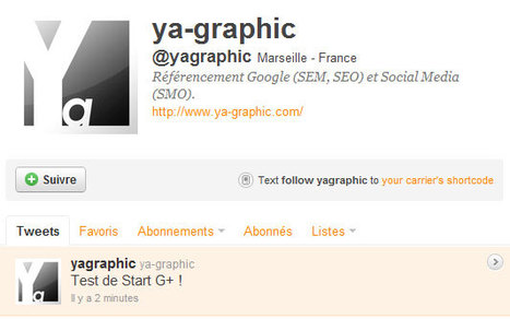 Start G+: vos flux Google+ diffusés sur Twitter et Facebook - Ya-graphic.com (Blog) | Adopter Google+ | Scoop.it