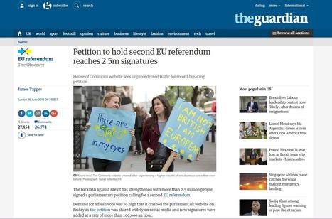 Pétition anti-Brexit : le Parlement britannique à l'épreuve des faussaires et des plaisantins | Critique du changement | Scoop.it