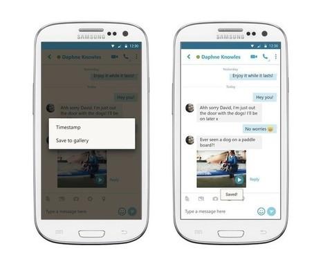 Skype para Android ya permite guardar mensajes de vídeo | Aprendiendoaenseñar | Scoop.it