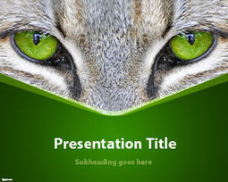 Free Cat Eyes PowerPoint Template | Free Powerpoint Templates | francesss | Scoop.it