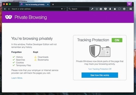 Firefox : une navigation privée vraiment privée - MacGeneration | netnavig | Scoop.it