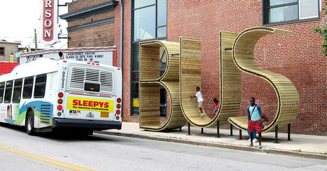 Wait for the Bus inside a Giant Typographic Sculpture in Baltimore   Suburban Land Trusts   Scoop.it