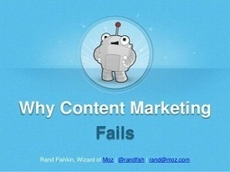 Why Content Marketing Fails [SlideShare]   Strengthening Brand America   Scoop.it
