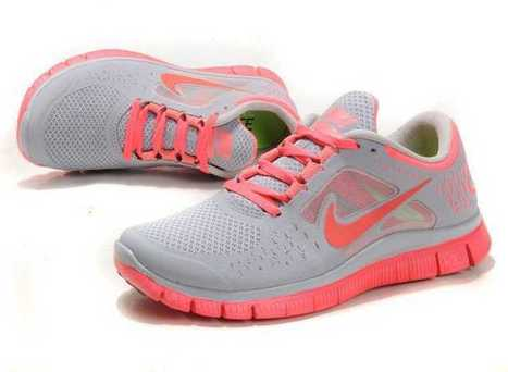 Nike Free 5.0 Running Womens Shoes Grey Pink uk free shipping 100% authentic | nike free pink | Scoop.it