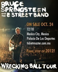 Tour Announcement: Springsteen to play Mexico City! - Blogness | Bruce Springsteen | Scoop.it