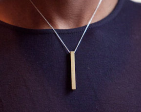 Rectangle Necklace | Layered Necklaces & Silver Bangle Bracelets | Scoop.it