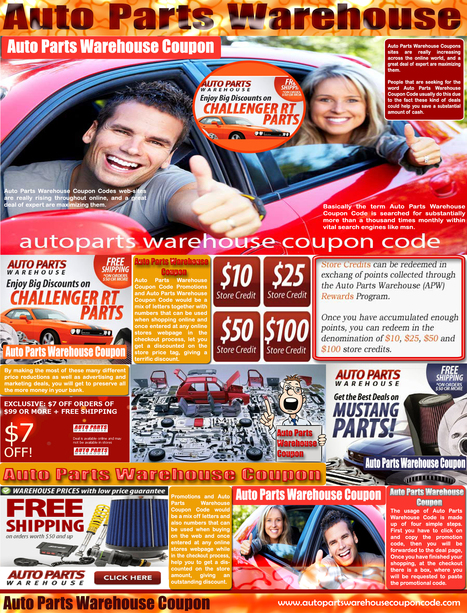 Auto Parts Warehouse Coupons | Auto Parts Warehouse Coupons | Scoop.it
