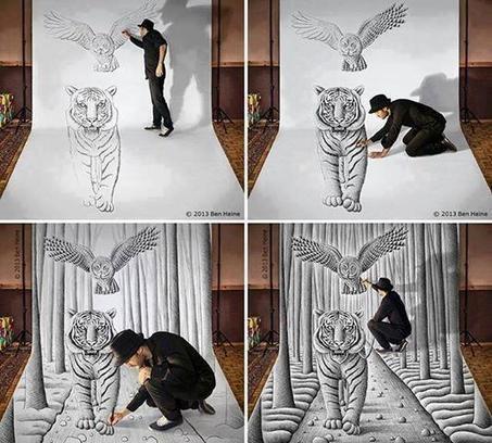 Twitter / TheMindBlowing: Amazing art by Ben Heine: ... | peanuts gallery | Scoop.it