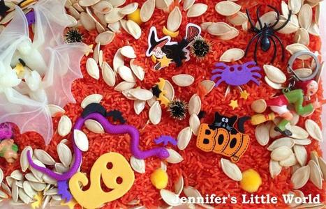 Jennifer's Little World blog - Parenting, craft and travel: A Halloween sensory tub | Autism | Scoop.it