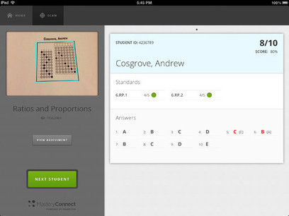 MasteryScan Turns Your iPad Into a Grading Machine | iGeneration - 21st Century Education | Scoop.it