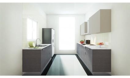 Kitchen cabinets design kitchen interiors modular for Parallel modular kitchen designs india