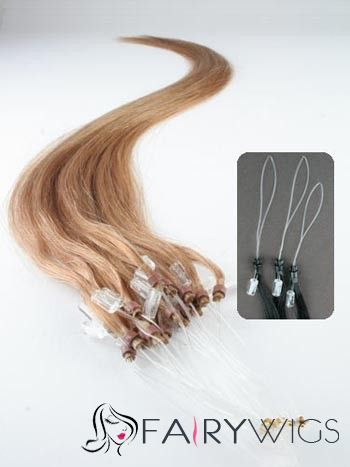 """12""""-30"""" Grizzly Strawberry Blonde Micro Link Hair Extensions : fairywigs.com 