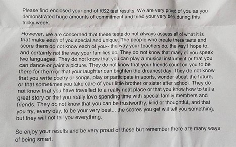 Primary school headteacher's inspirational letter to pupils goes viral - Telegraph | Professional Learning & Sharing Practice | Scoop.it