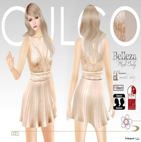 Plunge Neck Skater Dress Pink Teleport Hub Group Gift by Culco | Teleport Hub - Second Life Freebies | Second Life Freebies | Scoop.it