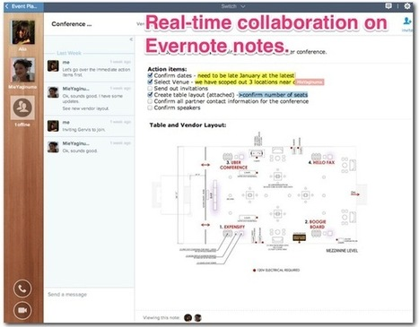 How to Collaborate on Documents with Evernote | Evernote, gestion de l'information numérique | Scoop.it