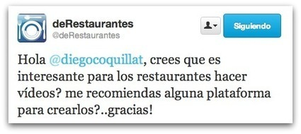 """El vídeo cada vez es más utilizado por los restaurantes"" 