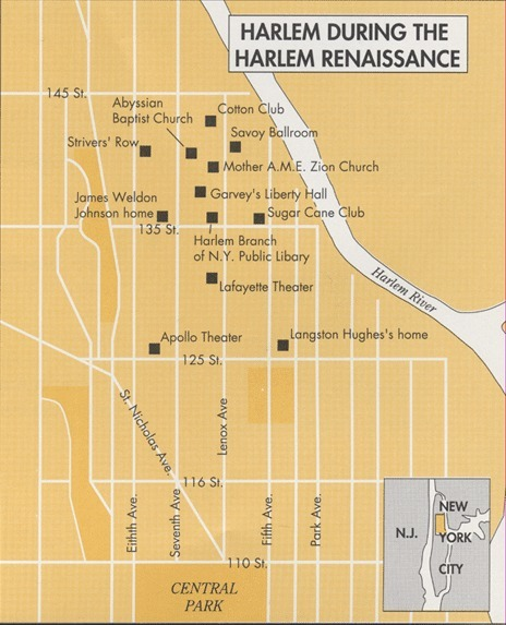 #3 Primary Document: Harlem Renaissance's Map | The Harlem Renaissance | Scoop.it