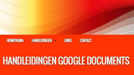 Google Documents Handleidingen | Social Media & sociaal-cultureel werk | Scoop.it