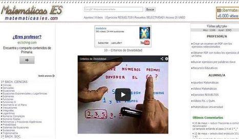 Matemáticas IES: vídeos de matemáticas, apuntes y ejercicios | EOE English. | Scoop.it