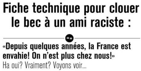 Infographie : Arguments contre les racistes | infographie | Scoop.it