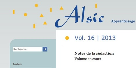 Alsic: Vol. 16 | 2013 | TELT | Scoop.it