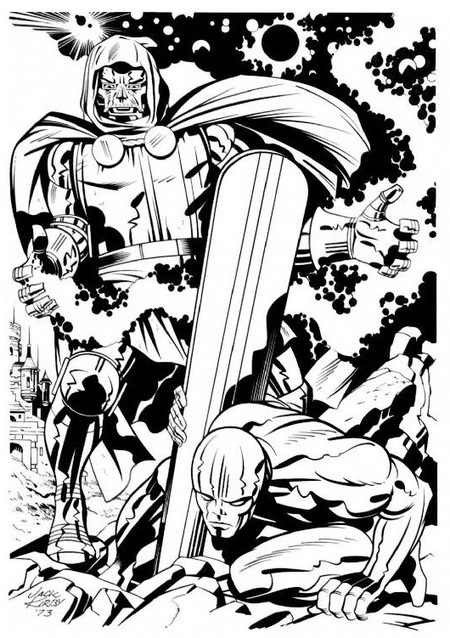 "Geek Time | marvel1980s: Doctor Doom vs. The Silver Surfer... - Linkis.com | Jack ""King"" Kirby 