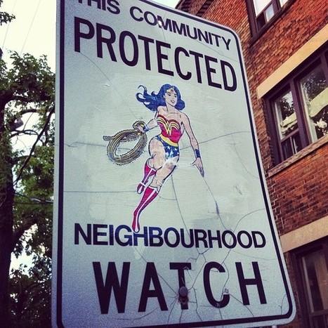 Artist Adds Pop Culture Heroes to Neighborhood Watch Signs ... | Random | Scoop.it