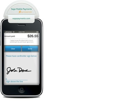 Sage upgrades mobile payment signature solution | ZDNet | Payments 2.0 | Scoop.it