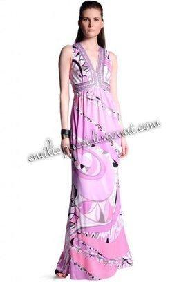 Online EMILIO PUCCI Deep V Neck Tragara Print Long Dress Pink [Pink Tragara Print dress] - $205.99 : Emilio pucci dresses online outlet,discount pucci dresses on sale! | chic items | Scoop.it