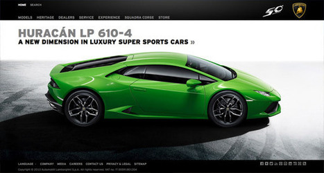 20 Automotive Web Designs All Gearheads Should See | Web Design | Scoop.it