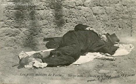 les P'tits métiers de Paris -Sur les quais-L'heure de la sieste | Cartes Postales Anciennes | GenealoNet | Scoop.it