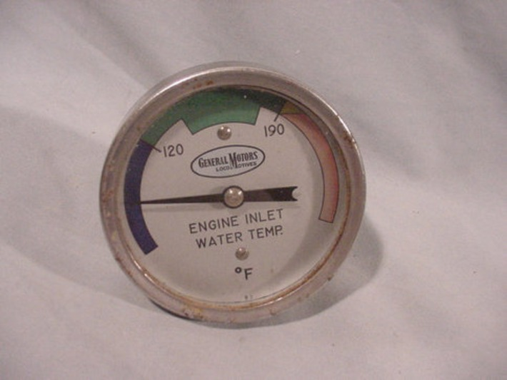 General Motors LocoMotives, Engine Inlet Water Temperature Gauge Gage, Fahrenheit | Antiques & Vintage Collectibles | Scoop.it