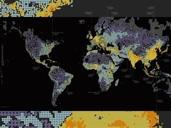 Global Population Density at a Glance (Infographic) | IB Geography (Diploma Programme) | Scoop.it