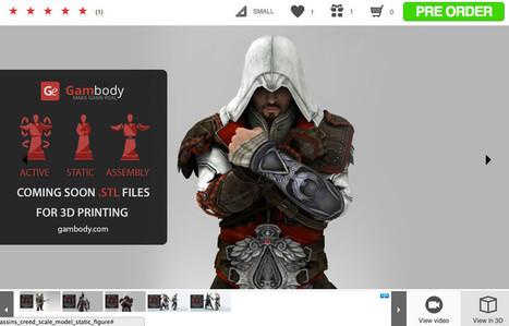 Gambody, une marketplace de modèles 3D pour les fans de jeux ... - 3dnatives | 3D | Scoop.it