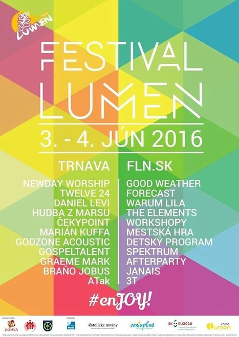Festival Lumen prinesie do Trnavy 3. a 4. júna známe mená! | Správy Výveska | Scoop.it