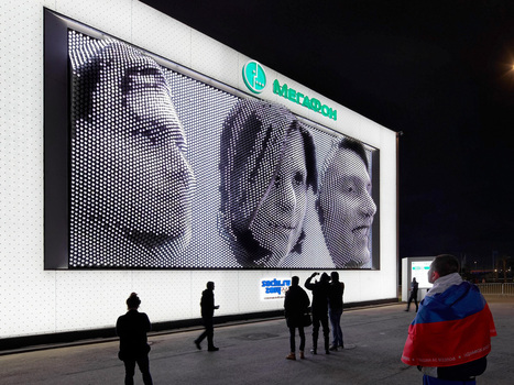 The Weirdest Thing at Sochi? Your Face on a Giant Screen of Morphing Pistons | Wired Design | Wired.com | LED DISPLAY | Scoop.it
