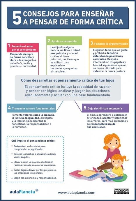 Pensamiento Crítico – 5 Recomendaciones para Fomentarlo entre tus Alumnos   Infografía   Profesión Palabra: oratoria, guión, producción...   Scoop.it