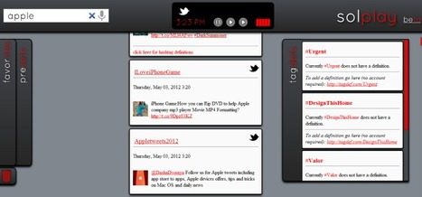 Solplay Un lecteur original du flux Twitter | Time to Learn | Scoop.it