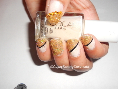 Glittery Nails Manicure Using Real Loose Glitter - Super Beauty Guru | The Super Beauty Guru | Scoop.it