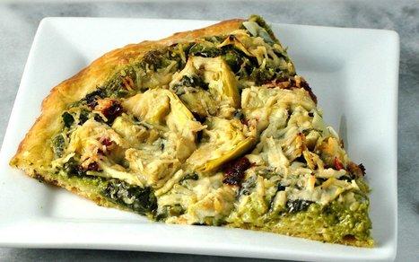 Artichoke and Spinach Pesto Pizza [Vegan] | Vegan Food | Scoop.it